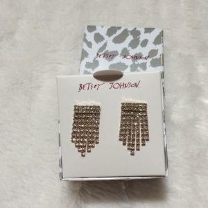 Betsey Johnson Silver Earrings NWT